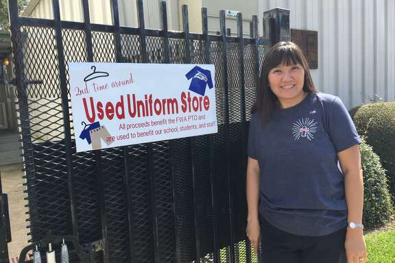 When the sign is posted on the gate, parents at Faith West Academy know that The Uniform Store that resells donated clothing is open, said Amy Abels, PTO president.