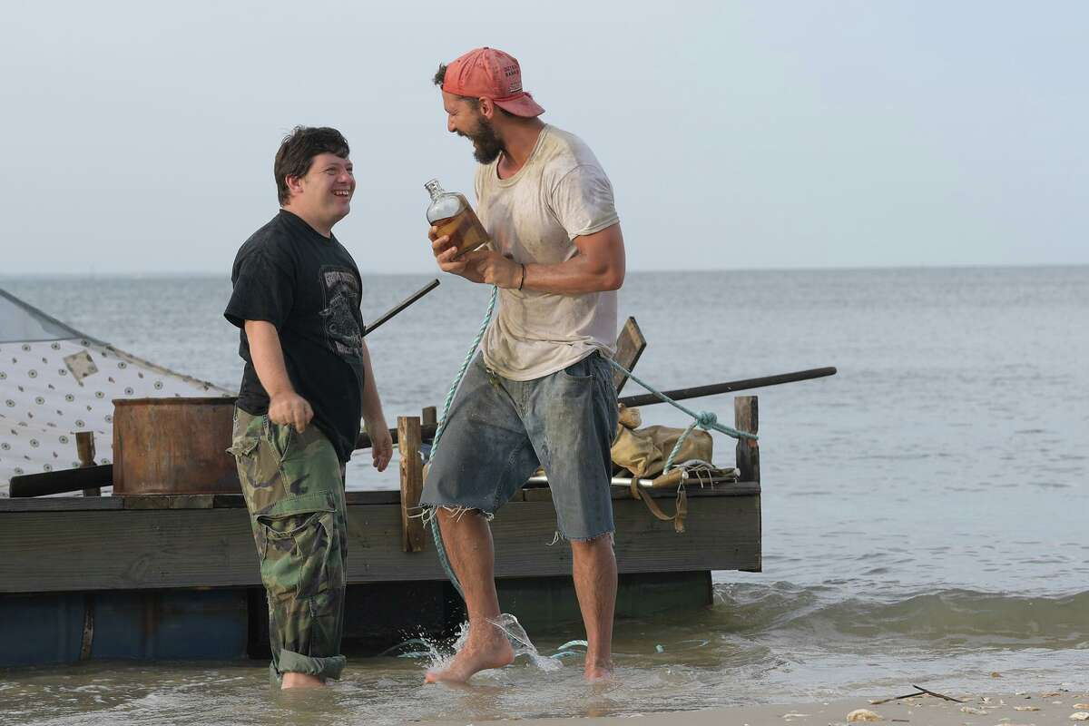 """Jack Gottsagen, left, and Shia LaBeouf star in """"The Peanut Butter Falcon."""" MUST CREDIT: Handout photo by Seth Johnson/Roadside Attractions/Armory Films"""