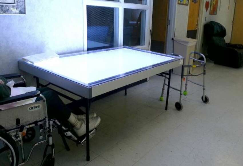 Light tables like these will be part of the experiment.