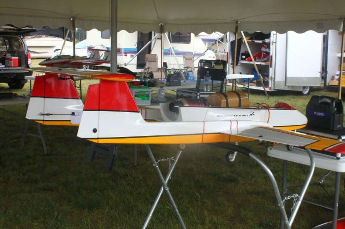 Pilots brought their model jets to the Baldwin Municipal Airport.