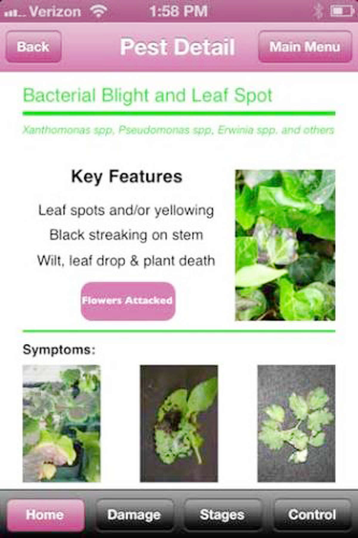 SMART APS: There are aps for your smart phone that can help with your yards work including (left) Purdue Tree Doctor home screen and (right) Purdue Annual Doctor initial pest identification screen. (Courtesy photo/Michigan State Extention office)