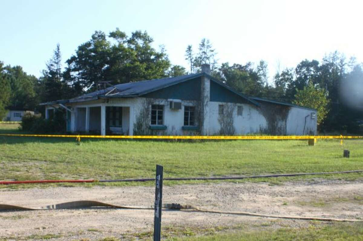 What used to be the Cajun Bayou bar and restaurant was used for a controlled burn for the Baldwin Fire Department.