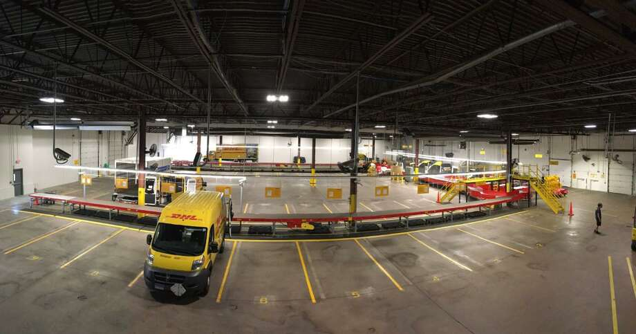 A view inside of DHL Express' West Hartford service center. The facility  recently was expanded and outfitted with state-of-the-art equipment so it can handle twice as many inbound packages from countries around the world. Photo: Contributed Photo