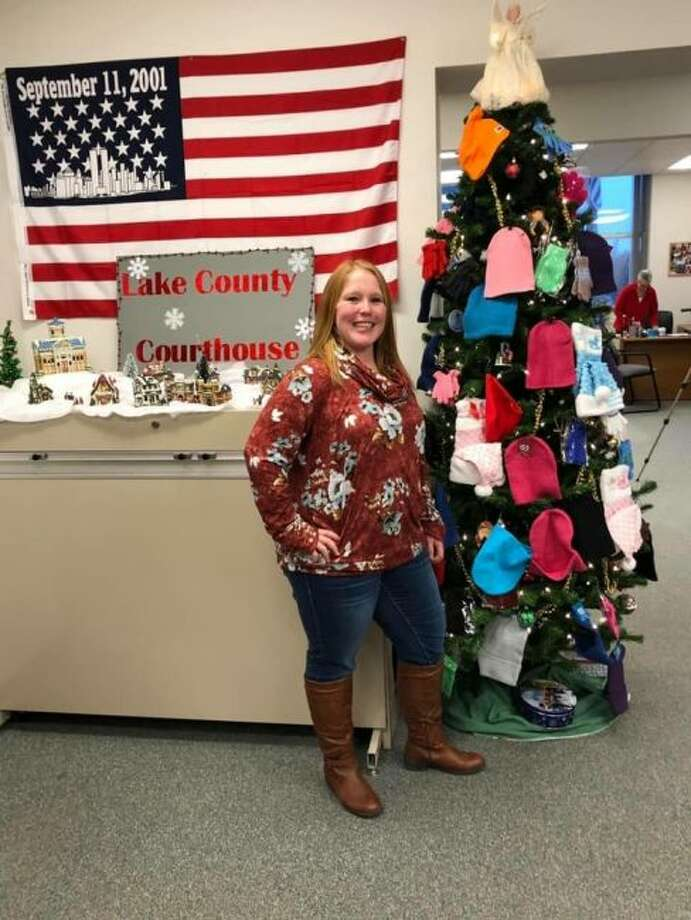 Heather Streicher, of the Chase Main Street Foundation, was happy to help in an effort to provide warm apparel to children in Lake County. (Courtesy photo)