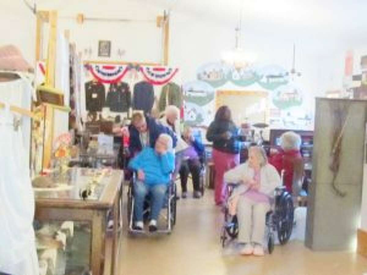 """Museum Trip: Grand Oaks Nursing Center residents recently visited the Luther Museum.""""There were lots of smiles and tears of joy seeing the different artifacts that Luther Museum provided,"""" said activity director Christine Engels. """"I want to say thank you to Lori Horan, Marilyn Gray and Stevie Ruppert for the great welcome to the museum and to the Yates-Dial-A-Ride for the transportation provided. We look forward to next year."""""""