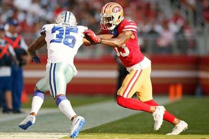 49ers' fast-maturing Tarvarius Moore making push to unseat Ward