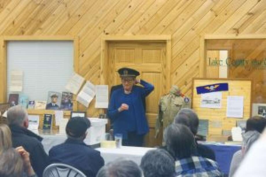 BALDWIN — Almost 50 people showed up to a presentation about the Robert Smith family, given by Debbie Oleson Smith, during the Lake County Historical Society meeting on Wednesday, Nov. 9, at the Baldwin Business Center.Tables of old photos and Smith family memorabilia were available for viewing along with military uniforms and artifacts collected from the service of Robert J. Smith in World War I and Robert S. Smith in World War II.Smith said her dad, Robert S. Smith, seldom talked about the things he went through during WWII. He was in China during the end of the war and traveled to Hong Kong. He even shook hands with the president of China, Chiang Kai-shek. Smith brought back ivory carvings and other interesting items from his travels in China.Smith compared the recent major election to elections back in older times. She recalled her dad giving people rides to the polls, even if they didn't vote the way he was voting. She said back then people weren't as likely to take other's votes or opinions so personally. People weren't looked down upon because of a different view.Smith said how her dad was proud of the diversity in Baldwin and all of his friends of different ethnic, racial and religious backgrounds who he learned so much from. She finished the presentation with a brief history of the Lake Osceola State Bank. Originally starting in Baldwin, when the bank merged with Luther, and then a branch in Tustin in 1963, the name came to be the Lake Osceola State bank. Of the 108 years of service to the Baldwin community, the bank stayed in the Smith family, starting with her grandfather Robert J. Smith; her father Robert S. Smith; her uncle Curtis L. Smith and now herself serving as president.As the program closed, Jill Engelmen, curator of the Lake County Historical Museum, publicly thanked the...