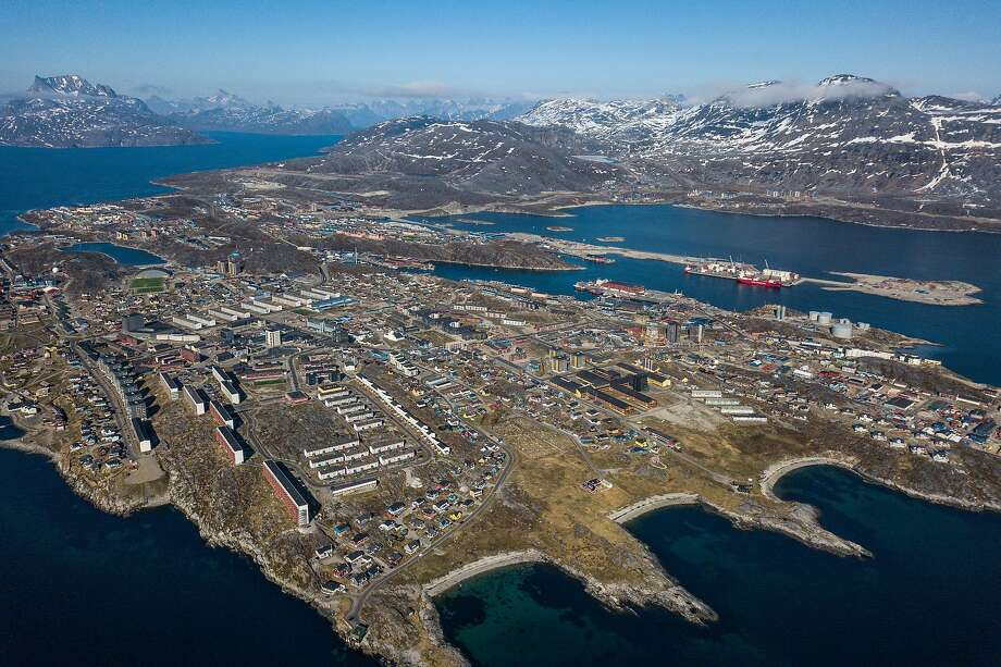 FILE-- Nuuk, Greenland's capital, June 20, 2019. President Donald Trump has been urging aides to explore a way to buy Greenland from Denmark, according to three people familiar with the discussions. (Ben C. Solomon/The New York Times) Photo: Ben C. Solomon, NYT