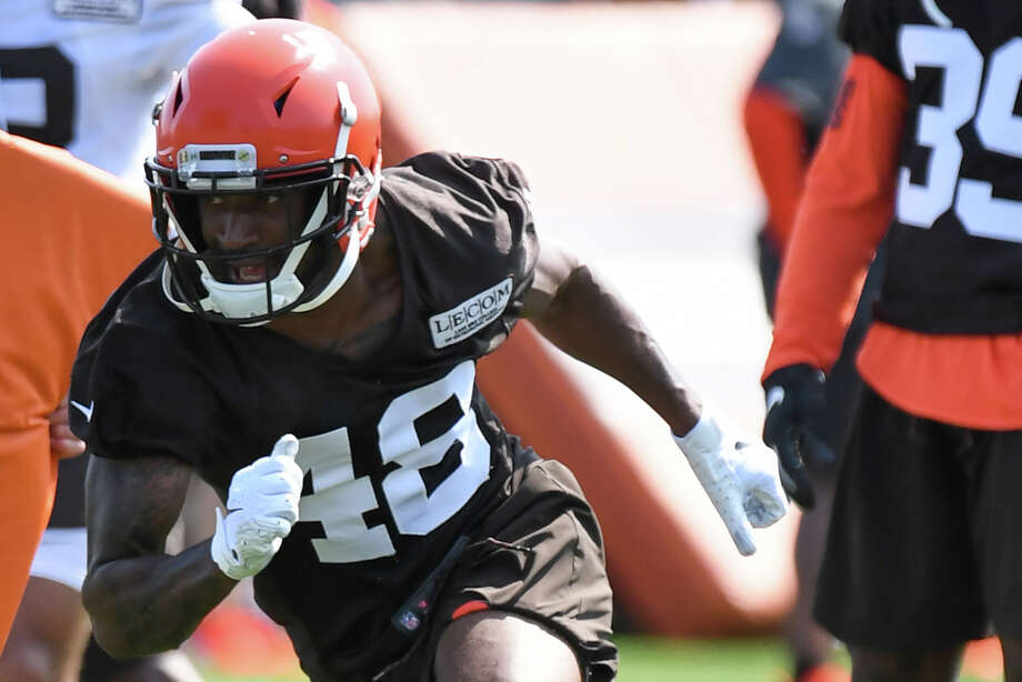 PHOTOS: Texans training camp BEREA, OH - JULY 25, 2019: Defensive back Jermaine Ponder #48 of the Cleveland Browns participates in a drill during a training camp practice on July 25, 2019 at the Cleveland Browns training facility in Berea, Ohio. (Photo by: 2019 Nick Cammett/Diamond Images via Getty Images) >>>See photos from the final day of the Texans' joint practice with the Lions on Thursday, Aug. 15, 2019 ... Photo: Diamond Images/Diamond Images/Getty Images / 2019 Diamond Images