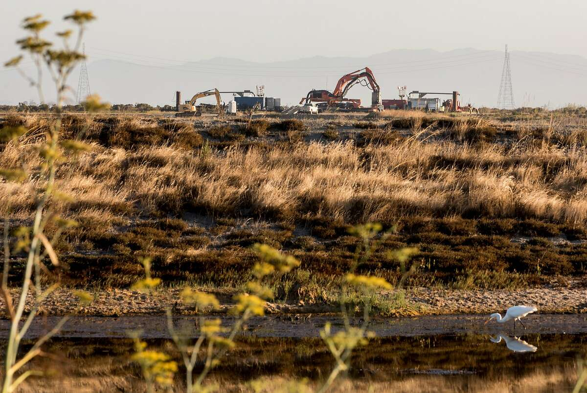 Restoration work continues on parts of the wetlands near Cullinan Ranch along Highway 37 in Vallejo, Calif. Friday, August 16, 2019.
