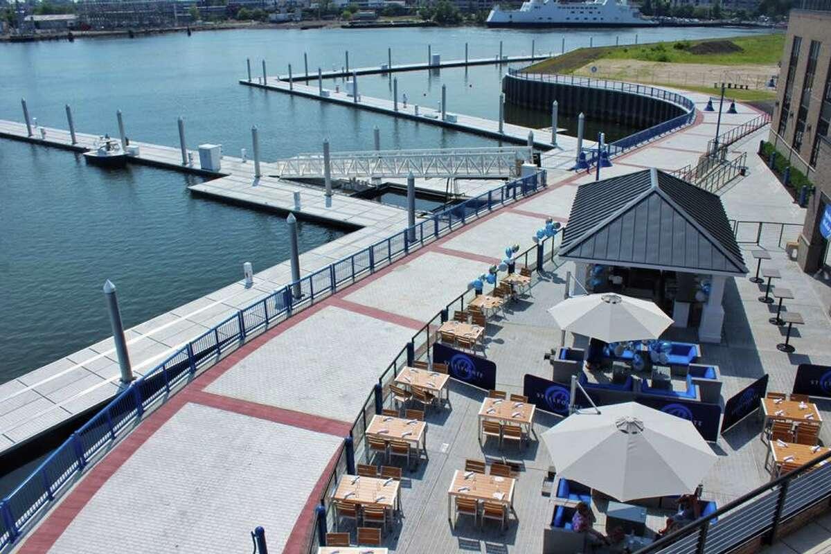 Boca's patio takes advantage of its harborfront location.