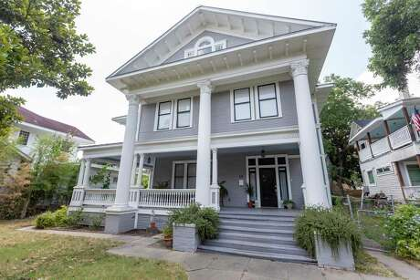 The front of the 1910 Roosevelt Park neighborhood home bought by Thomas Davis and Grace Marengo Sanchez in 2014. They have been renovating the home since they bought it.