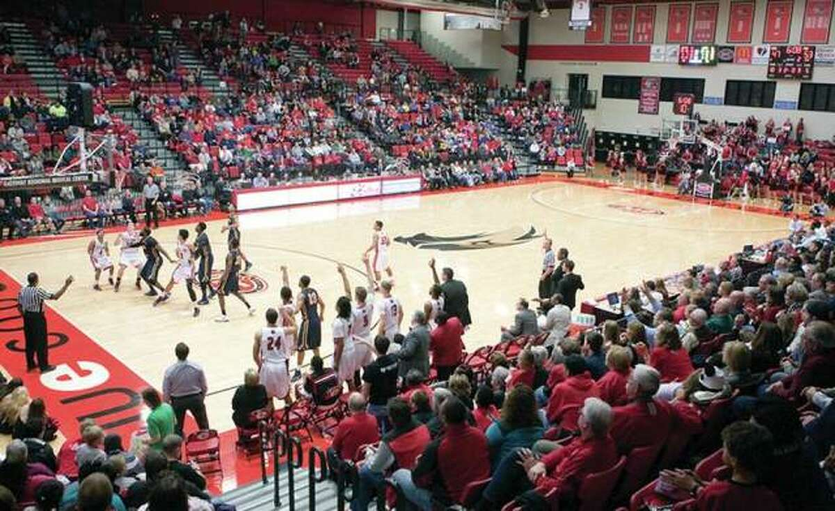 The Vadalabene Center is home to the men's and women's basketball teams, wrestling team and volleyball team.