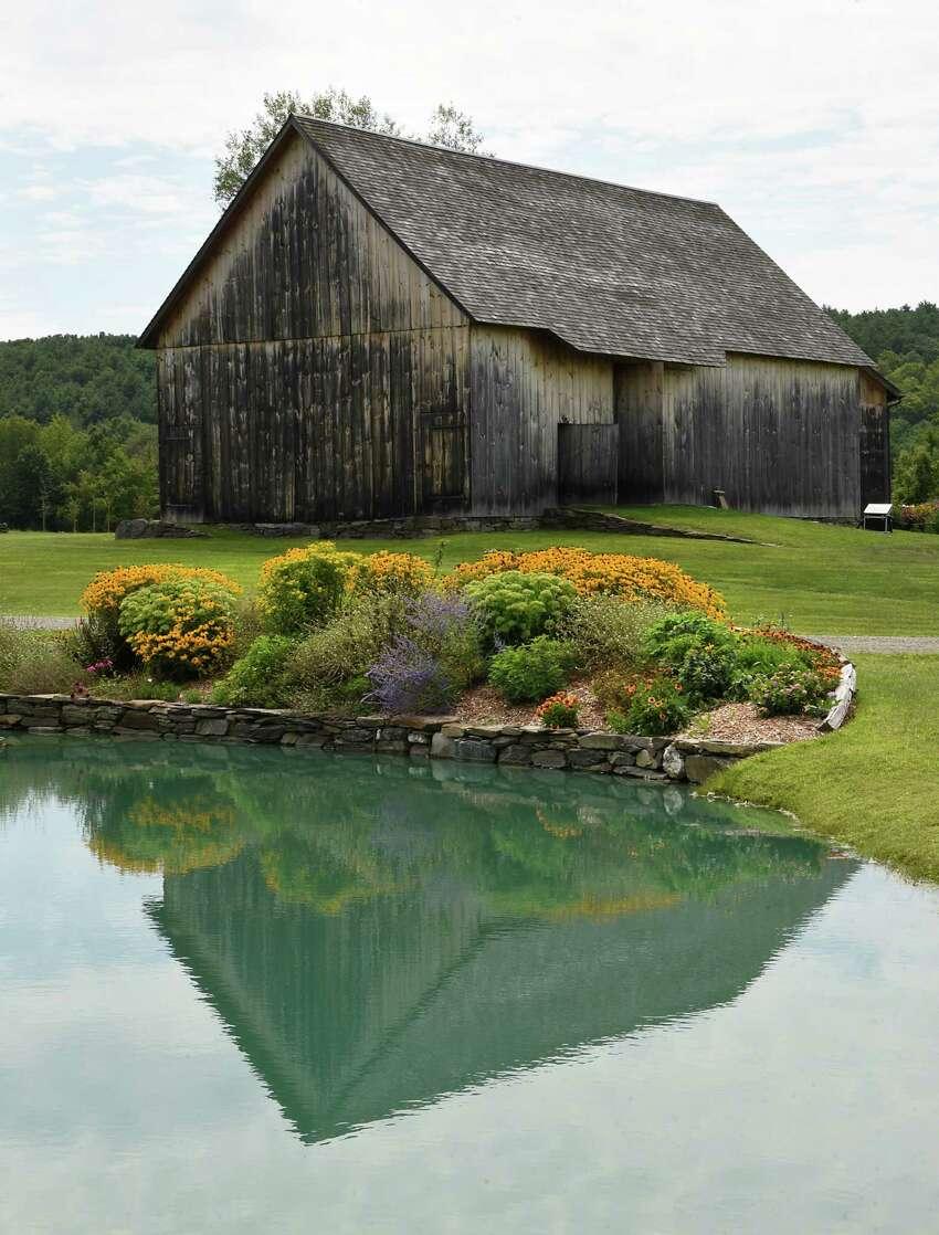 Exterior of a barn at Historic Barns of Nipmoose on Thursday Aug. 15, 2019 in Buskirk, N.Y. (Lori Van Buren/Times Union)