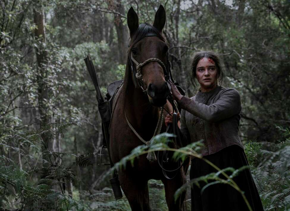 Aisling Franciosi as Clare in the film