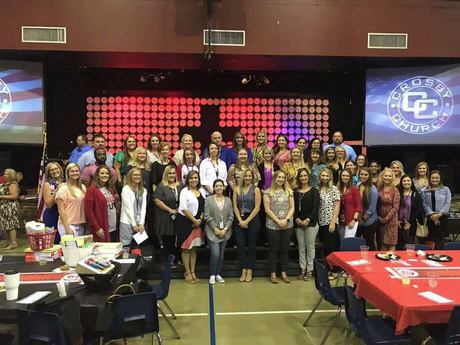The new Huffman ISD educators were introduced at the Crosby-Huffman Chamber of Commerce's New Educator's Luncheon on Aug. 14 at Crosby Church in Crosby Photo: Courtesy Photo, Huffman ISD Facebook