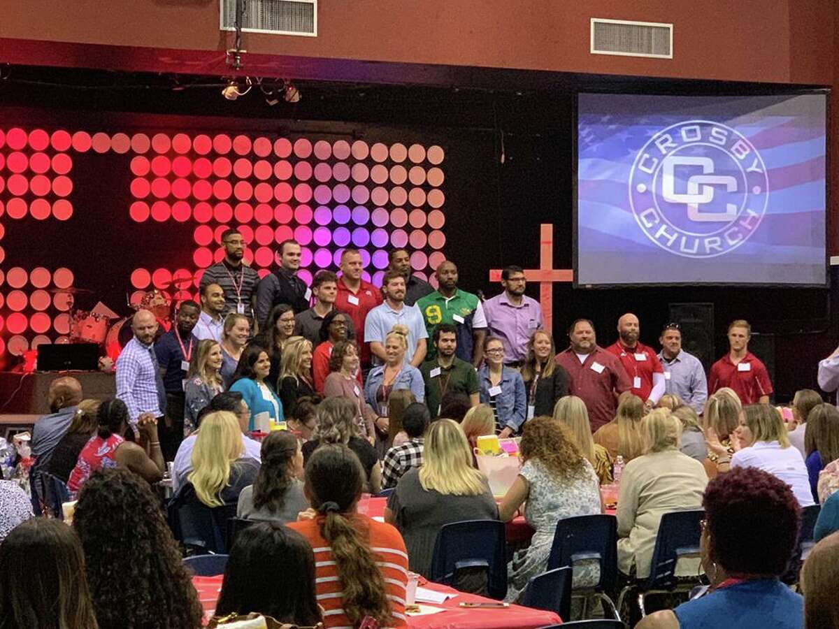 The new Crosby High School educators were introduced at the Crosby-Huffman Chamber of Commerce's New Educator's Luncheon on Aug. 14 at Crosby Church in Crosby