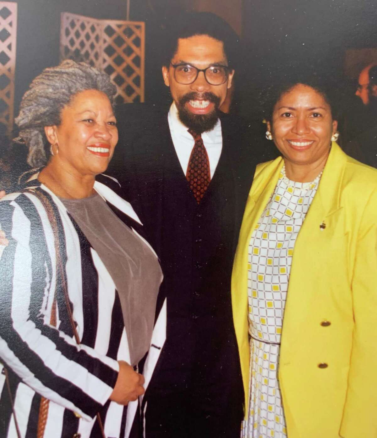 Prairie View A&M University President Ruth Simmons, pictured right, was responsible for recruiting the late Nobel Laureate Toni Morrison (left) to Princeton University while she was working there as associate dean of faculty. Morrison then helped recruit African American scholar and social critic Cornel West (middle).