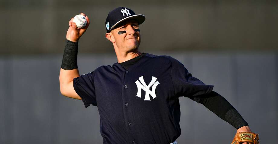 TAMPA, FL - MARCH 12: Troy Tulowitzki #12 of the New York Yankees warming up before the spring training game against the Baltimore Orioles at Steinbrenner Field on March 12, 2019 in Tampa, Florida. (Photo by Mark Brown/Getty Images) Photo: Mark Brown/Getty Images
