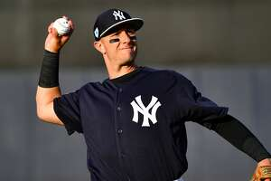 TAMPA, FL - MARCH 12: Troy Tulowitzki #12 of the New York Yankees warming up before the spring training game against the Baltimore Orioles at Steinbrenner Field on March 12, 2019 in Tampa, Florida. (Photo by Mark Brown/Getty Images)