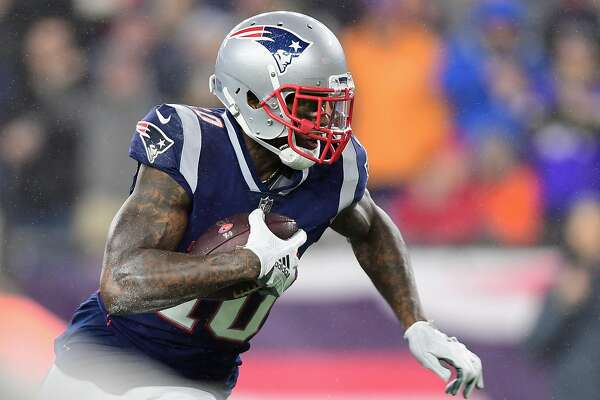 FOXBOROUGH, MA - DECEMBER 02: Josh Gordon #10 of the New England Patriots runs on his way to scoring a touchdown during the third quarter against the Minnesota Vikings at Gillette Stadium on December 2, 2018 in Foxborough, Massachusetts. (Photo by Billie Weiss/Getty Images)