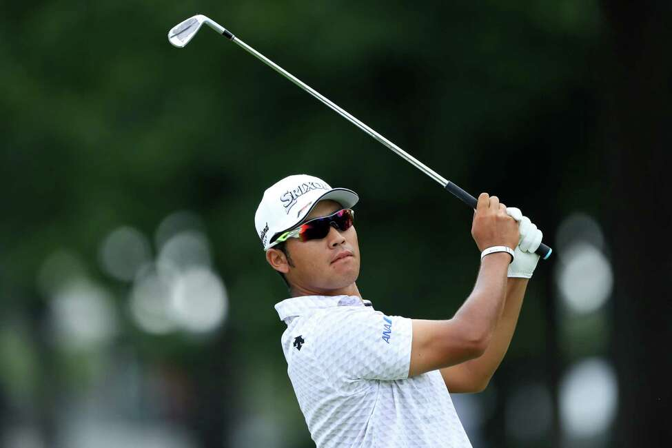 MEDINAH, ILLINOIS - AUGUST 16: Hideki Matsuyama of Japan plays a shot during the second round of the BMW Championship at Medinah Country Club No. 3 on August 16, 2019 in Medinah, Illinois. (Photo by Sam Greenwood/Getty Images)