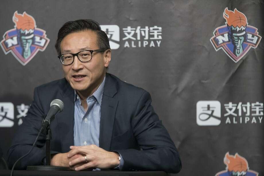 Joe Tsai already owned 49 percent of the Nets before Thursday's transaction. Photo: Mary Altaffer / Associated Press