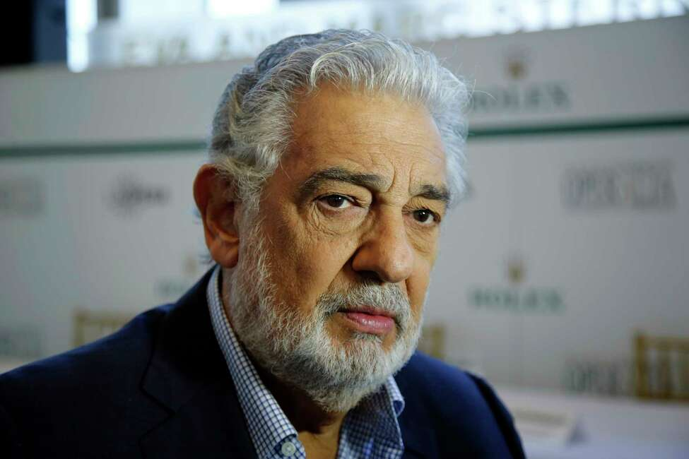FILE - In this Aug. 26, 2014, file photo, Placido Domingo speaks at the Dorothy Chandler Pavilion in Los Angeles. On Tuesday, Aug. 13, 2019, the LA Opera said it will hire outside counsel to investigate allegations of sexual harassment and inappropriate behavior by the opera legend. Domingo has denied the accusations, but noted: