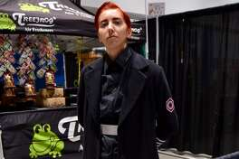 """Elise as General Hux from """"Star Wars"""" at Silicon Valley Comic Con in San Jose, California on Friday, August 16, 2019."""
