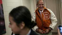 Hermès CEO Bob Chavez got a letterman jacket last year on a visit to his alma mater,  Burbank High School.