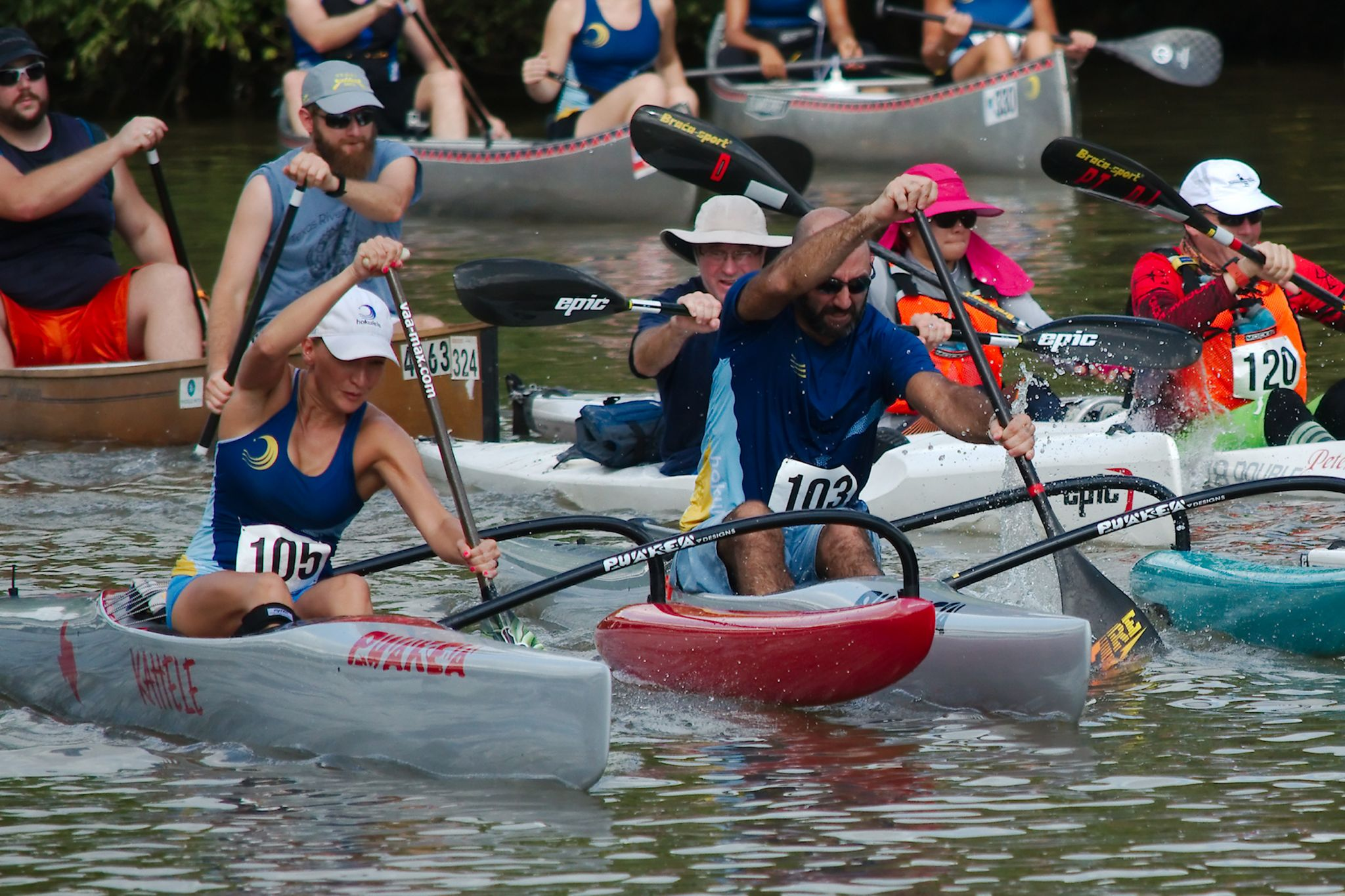 Clear Creek Paddle Race is cool fun for beginners and experts