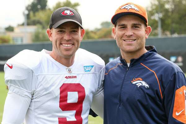 Special team: 49ers kicker Robbie Gould and his brother, Chris, sharing the NFL experience