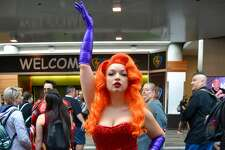 Jess Kiah as Jessica Rabbit at the Silicon Valley Comic Con in San Jose, California on Saturday, August 17, 2019.