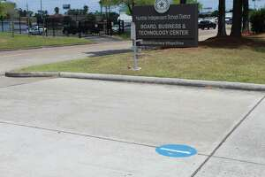 Humble ISD has painted numbers on the driveways of every campus and administrative building to provide faster and more efficient emergency responses.
