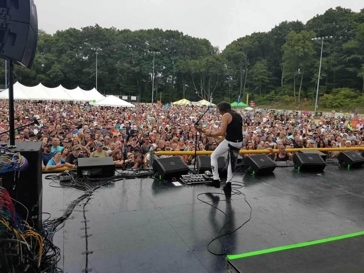 Extreme performs to a huge crowd at the Milford Oyster Festival Aug. 17., 2019.