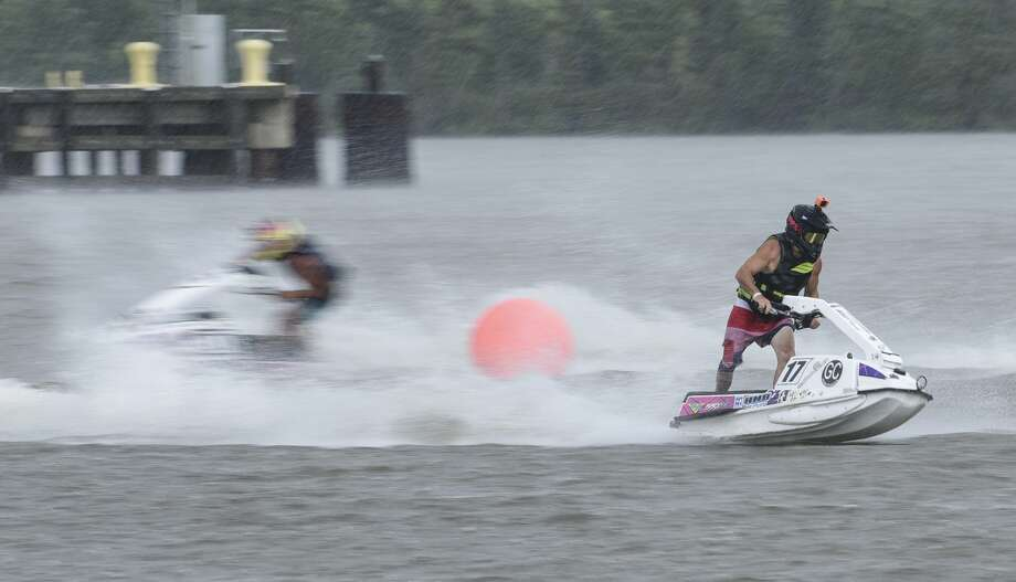 Racers compete on their personal watercrafts during the Shaun Compton Memorial Race on Sabine River in Orange Saturday afternoon. Photo taken on Saturday, 08/17/19. Ryan Welch/The Enterprise Photo: Ryan Welch/The Enterprise