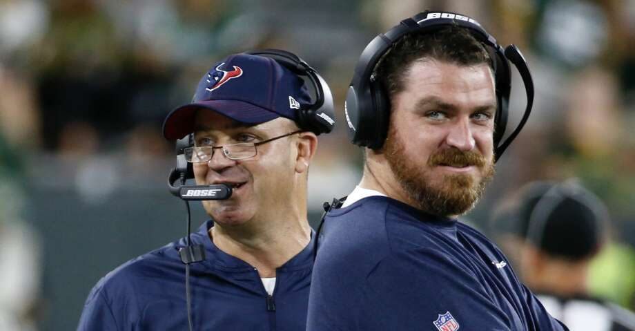 Texans coach Bill O'Brien has been pleased with Tim Kelly, who is in his first year as offensive coordinator. Photo: Brett Coomer/Staff Photographer