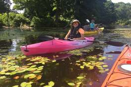 Suzanne Petty bought a kayak just so she could participate in the 'float-in' in support of saving Ida Lake.