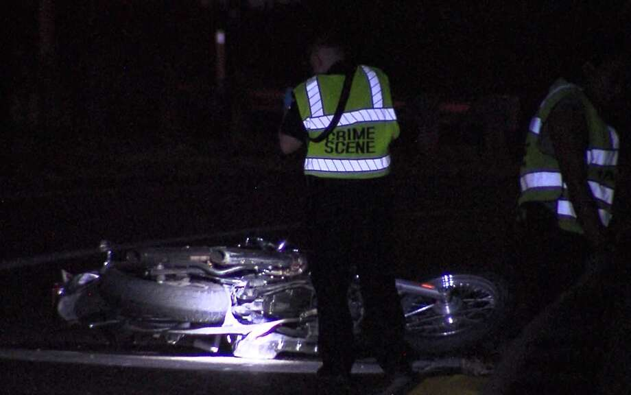 San Antonio police say one man is dead and another hospitalized in critical condition after a motorcycle wreck overnight on the far Northeast Side Sunday, Aug. 18, 2019. Photo: 21 Pro Video