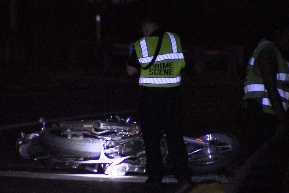 San Antonio police say one man is dead and another hospitalized in critical condition after a motorcycle wreck overnight on the far Northeast Side Sunday, Aug. 18, 2019.