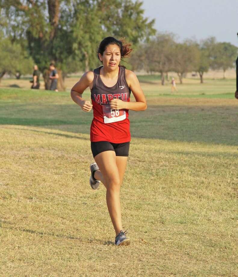 Martin's Samantha Gonzalez won the Border Olympics 5A/6A individual girls' title Saturday. Photo: Courtesy Photo