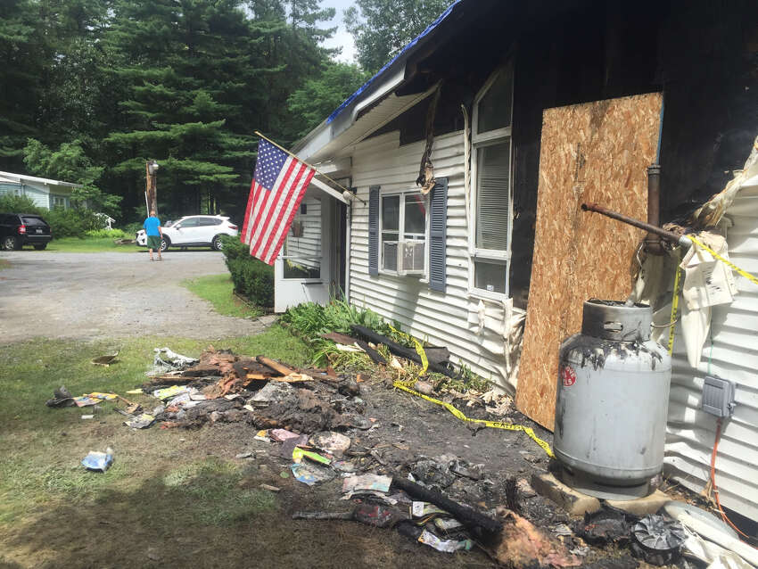 A fire damaged the headquarters of Operation Adopt A Soldier in Wilton on Saturday, August 17, 2019.