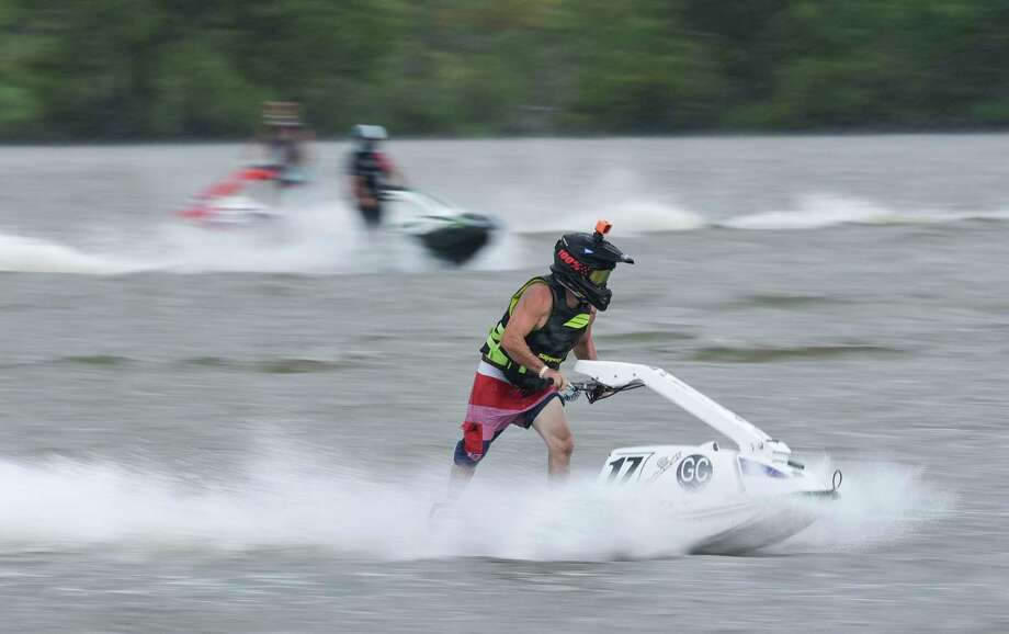 Racers compete on their personal watercrafts during the Shaun Compton Memorial Race on Sabine River in Orange Saturday afternoon. Photo taken on Saturday, 08/17/19. Ryan Welch/The Enterprise Photo: Ryan Welch, Beaumont Enterprise / The Enterprise / © 2019 Beaumont Enterprise