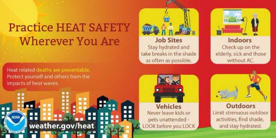 The Connecticut Department of Emergency Services and Public Protection and National Weather Service offers tips for keeping cool -- and safe -- in the heat Photo: Connecticut Department Of Emergency Services And Public Protection / Contributed