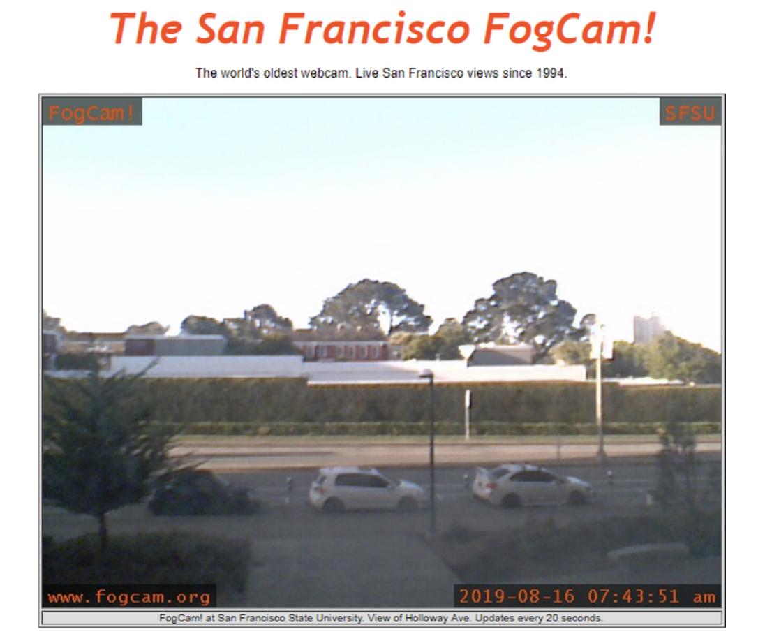 Techmeme: FogCam, a webcam set up by two San Francisco State