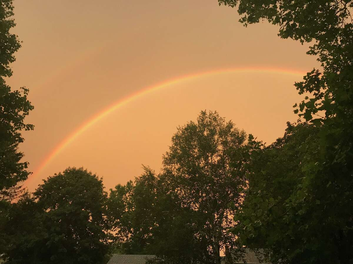 Skies turned a bright orange as storms tore through the Capital Region Sunday, Aug. 18, 2019. (Sara Tracey)
