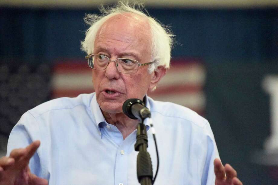 Democratic presidential hopeful Bernie Sanders looks on as panel members discuss his criminal justice reform plan during a town hall meeting on Sunday, Aug. 18, 2019, in Columbia, S.C. (AP Photo/Meg Kinnard) Photo: Meg Kinnard / Copyright 2015 The Associated Press. All rights reserved