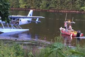 Shelton fire crews aided in handling an emergency aircraft landing on the Housatonic River on Friday, Aug. 16.