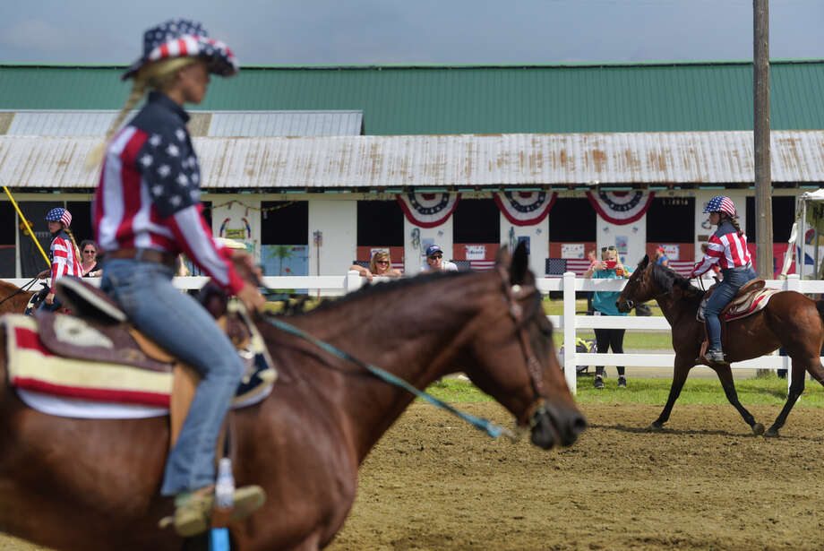 Members of the Pony Pals 4-H Drill Team perform at the Altamont Fair on Sunday, August 18, 2019, in Altamont, N.Y.   (Paul Buckowski/Times Union) Photo: Paul Buckowski, Albany Times Union / (Paul Buckowski/Times Union)