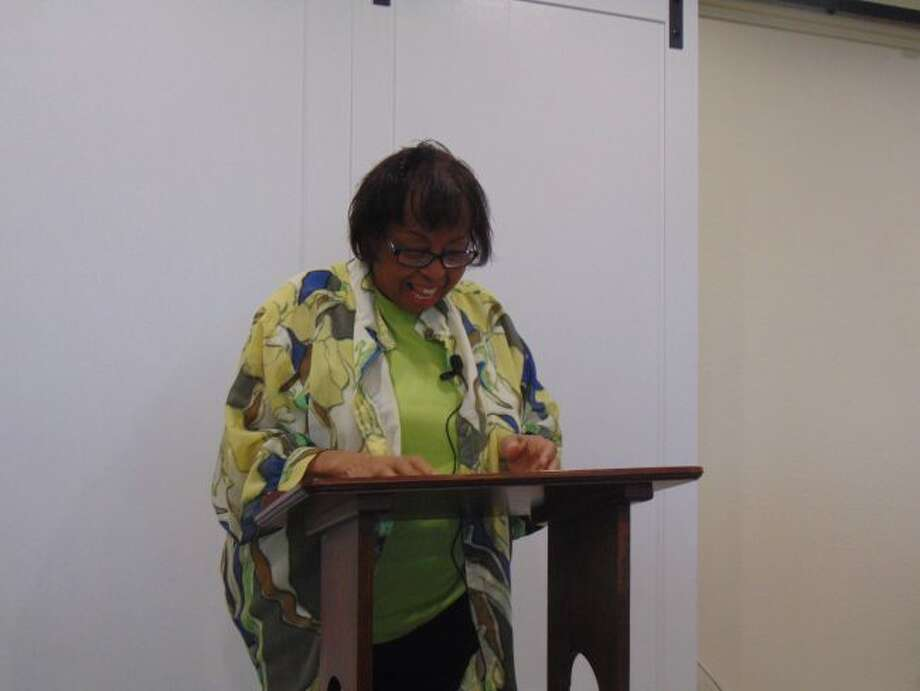 Brenda Nelson, former manager at Shrine of the Pines, helped tell the history of Hortense Overholzer.
